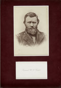 Autographs:U.S. Presidents, Ulysses S. Grant: A Twenty-Four Word Autograph Note as President,Dated April 14, 1869. Written on the back of his perso...