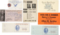 Political:Small Paper (1896-present), Harry S. Truman: A Group Lot of Seven Paper Items.... (Total: 7Items)