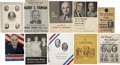 Political:Small Paper (1896-present), Harry S. Truman: A Fine Collection of Ten Paper Items. ... (Total: 10 Items)