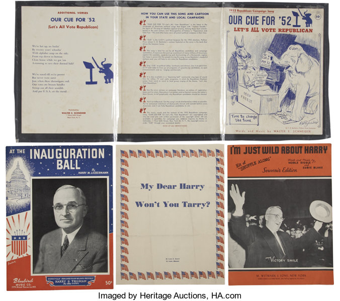 Harry S Truman: Lot of Truman-Related Campaign Sheet Music