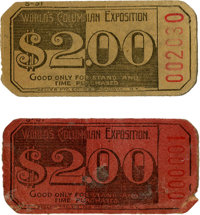 World's Columbian Exposition: Two Stand Tickets, One Number 1!