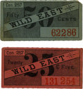 General Historic Events:World Fairs, World's Columbian Exposition: Two Wild East Concession Tickets....