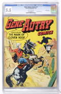 Golden Age (1938-1955):Western, Gene Autry Comics #1 Crowley Copy pedigree (Fawcett, 1942) CGC FN-5.5 Off-white pages. ...