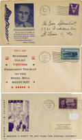Political:Small Paper (1896-present), Harry S. Truman: A Group of Three Scarce Postally Used Covers.... (Total: 3 Items)