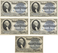 World's Columbian Exposition: Group of Five Admission Tickets: