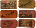 General Historic Events:World Fairs, World's Columbian Exposition: Group of Six Midway Tickets,...(Total: 6 Items)