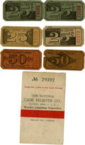 General Historic Events:World Fairs, World's Columbian Exposition: Group of Six Midway Token Tickets....(Total: 6 Items)
