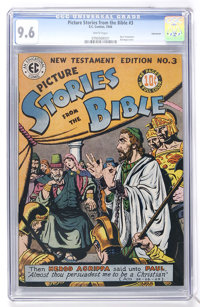 Picture Stories from the Bible #3 New Testament Vancouver pedigree (EC, 1946) CGC NM+ 9.6 White pages