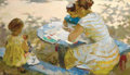 Fine Art - Painting, Russian:Contemporary (1950 to present), GRIGORY KRAVCHENKO (Russian, b. 1930). Sunny AfternoonAmusements, 1962. Oil on canvas. 30 x 50 inches (76.2 x 127cm). ...