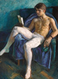 Fine Art - Painting, Russian:Contemporary (1950 to present), YURI PUGACHEV (Russian, 20th Century). Mikhail Baryshnikov, 1968. Oil on canvas. 26-1/2 x 20 inches (67.3 x 50.8 cm). Si...