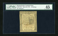 Colonial Notes:Pennsylvania, Pennsylvania March 20, 1773 16s PMG Choice Extremely Fine 45....