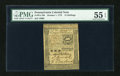 Colonial Notes:Pennsylvania, Pennsylvania October 1, 1773 15s PMG About Uncirculated 55 EPQ....