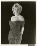 "Movie Posters:Miscellaneous, Marilyn Monroe Studio Portrait (1950s). Signed Still (8"" X 10"")...."
