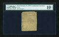 Colonial Notes:Continental Congress Issues, Continental Currency February 17, 1776 $1/2 PMG Net Very Good10....