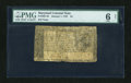Colonial Notes:Maryland, Maryland January 1, 1767 $4 PMG Good 6 Net....