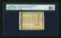 Colonial Notes:Massachusetts, Massachusetts May 5, 1780 $7 Uncancelled PMG Extremely Fine 40EPQ....