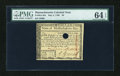 Colonial Notes:Massachusetts, Massachusetts May 5, 1780 $8 PMG Choice Uncirculated 64 EPQ....