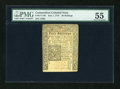 Colonial Notes:Connecticut, Connecticut July 1, 1775 40s Uncancelled PMG About Uncirculated55....