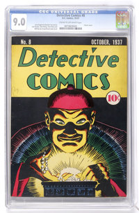 Detective Comics #8 (DC, 1937) CGC VF/NM 9.0 Cream to off-white pages