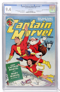 Captain Marvel Adventures #19 Mile High pedigree (Fawcett, 1943) CGC NM 9.4 White pages