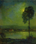 Fine Art - Painting, American:Modern  (1900 1949)  , JOSEPH HENRY BOSTON (American, 1860-1954). Sunset Across theLake. Oil on canvas. 30 x 25 inches (76.2 x 63.5 cm). Signe...