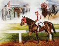 Fine Art - Painting, American:Modern  (1900 1949)  , PROCEEDS FROM THE SALE OF THIS LOT WILL BENEFIT THE CHILDRENSHOSPITAL OF DALLAS. TOM CHAPMAN (20th Century).Seabiscuit...