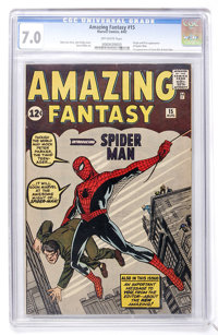 Amazing Fantasy #15 (Marvel, 1962) CGC FN/VF 7.0 Off-white pages