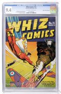 Golden Age (1938-1955):Superhero, Whiz Comics #15 Mile High pedigree (Fawcett, 1941) CGC NM 9.4 Off-white to white pages....