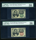 Fractional Currency:Fifth Issue, Fr. 1264 10c Fifth Issue PMG Choice About Unc 58. Fr. 1265 10c Fifth Issue PMG Choice About Unc 58.. ... (Total: 2 notes)