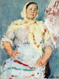 Fine Art - Painting, Russian:Contemporary (1950 to present), VALENTINA SAVELEVA (Russian, b. 1938). Russian Woman, circa1960. Oil on canvas. 39 x 29 inches (99.1 x 73.7 cm). Signed...