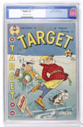 Golden Age (1938-1955):Miscellaneous, Target Comics V3#11 Mile High pedigree (Novelty Press, 1943) CGC NM/MT 9.8 Off-white to white pages....