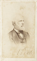 "Autographs:Military Figures, Robert E. Lee Carte de Visite Signed ""R E Lee"". 2.5"" x 4"". C. R. Rees and Co., Richmond, Virginia ba..."