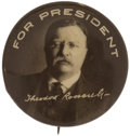 """Political:Pinback Buttons (1896-present), Theodore Roosevelt: Most Unusual ¾"""" Variety from the 1912 Campaign...."""