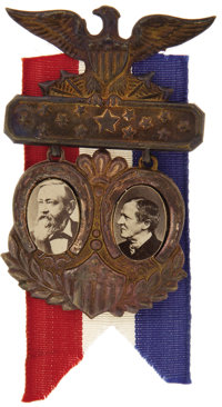 Harrison & Morton: Very Choice 1888 Jugate Badge