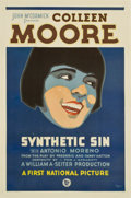 "Movie Posters:Comedy, Synthetic Sin (First National, 1929). One Sheet (27"" X 41"")...."