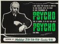 "Movie Posters:Hitchcock, Psycho (Paramount, 1960). British Quad (30"" X 40"") Style B...."