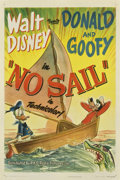 "Movie Posters:Animated, No Sail (RKO, 1945). One Sheet (27"" X 41"")...."