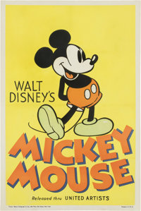 """Mickey Mouse Stock Poster (United Artists, 1933). One Sheet (27"""" X 41"""")"""
