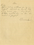 "Autographs:U.S. Presidents, Franklin D. Roosevelt: Autograph Note Signed ""Roosevelt"" as President.. -No date [possibly February 1939]. No pl..."