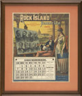 Political:Posters & Broadsides (pre-1896), Election of 1884: Political Theme Lithographic Calendar, The Great Rock Island & Pacific Railway. The gorgeous calendar pict...