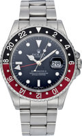 Timepieces:Wristwatch, Rolex Ref. 16710 GMT Master II Steel Wristwatch, circa 1991. ...