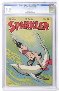 Sparkler Comics #37 Mile High pedigree (United Features Syndicate, 1944) CGC NM- 9.2 Off-white to white pages