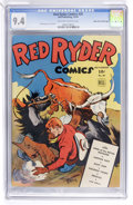 Golden Age (1938-1955):Western, Red Ryder Comics #20 Mile High pedigree (Dell, 1944) CGC NM 9.4 Off-white to white pages....