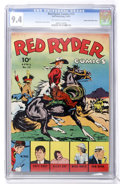 Golden Age (1938-1955):Western, Red Ryder Comics #12 Mile High pedigree (Dell, 1943) CGC NM 9.4Off-white to white pages....