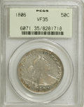 Early Half Dollars, 1806 50C Pointed 6, No Stem VF35 PCGS....