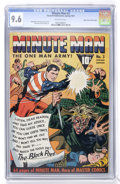 Golden Age (1938-1955):Superhero, Minute Man #3 Mile High pedigree (Fawcett, 1941) CGC NM+ 9.6 Off-white pages....