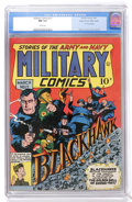 Golden Age (1938-1955):War, Military Comics #17 Mile High pedigree (Quality, 1943) CGC NM 9.4 White pages....