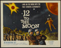 "Movie Posters:Science Fiction, 12 to the Moon (Columbia, 1960). Half Sheet (22"" X 28""). ScienceFiction...."