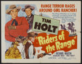 "Movie Posters:Action, Riders of the Range (RKO, 1949). Half Sheet (22"" X 28"") Style A.Action...."