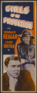 "Movie Posters:Crime, Girls on Probation (Warner Brothers, 1938). Other Company Insert(14"" X 36""). Crime...."
